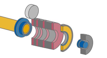 1 平板をカップ状に成形します。そのカップをボディメーカーで加工します。